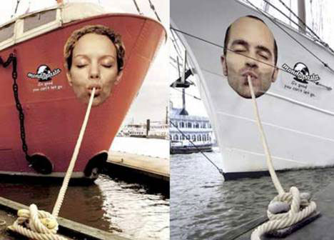 funny guerrilla marketing noodle ships