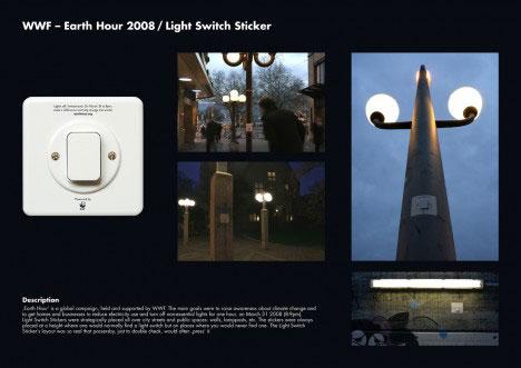 guerrilla marketing switzerland earth hour 2008