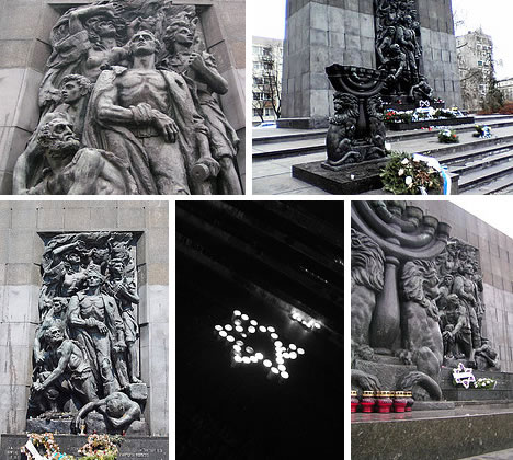 Ghetto Heroes Monument - Warsaw Poland