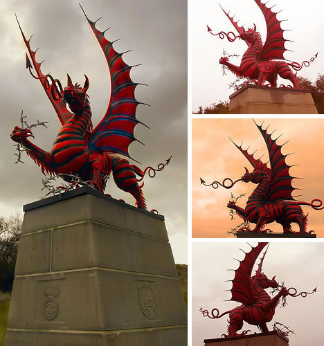 38th Welsh Division Red Dragon Memorial at Mametz Wood