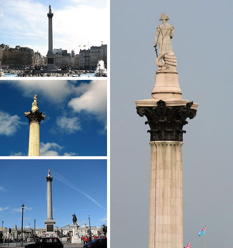 Nelson\'s Column in Trafalgar Square, London