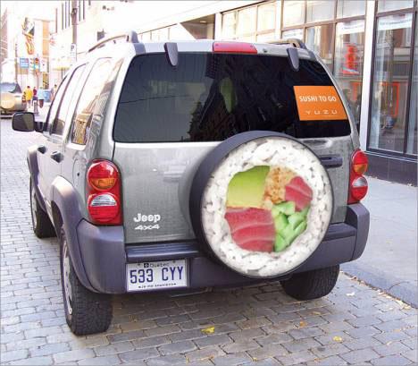 outrageous guerrilla marketing sushi truck