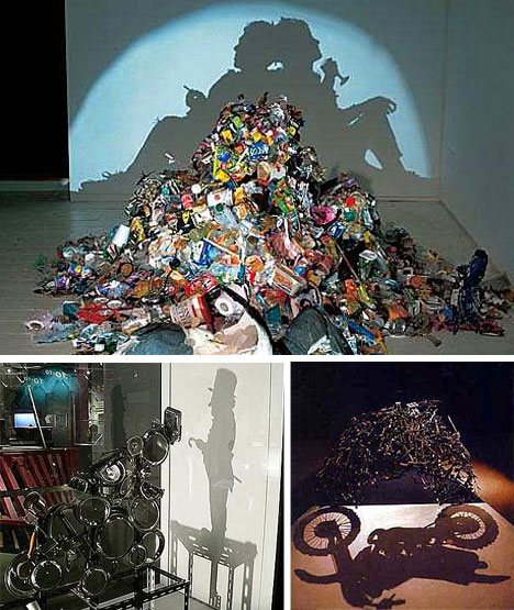 Projected Art from Trash