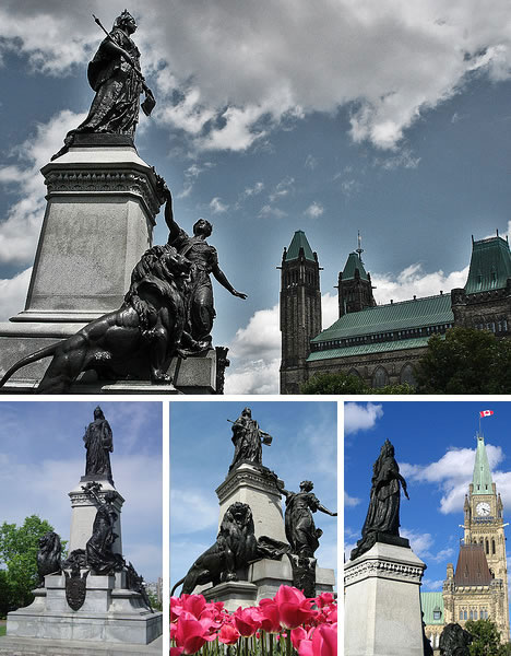 Queen Victoria Monument in Ottawa, Canada