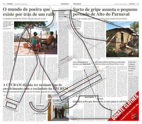 social guerrilla marketing clothes newspaper