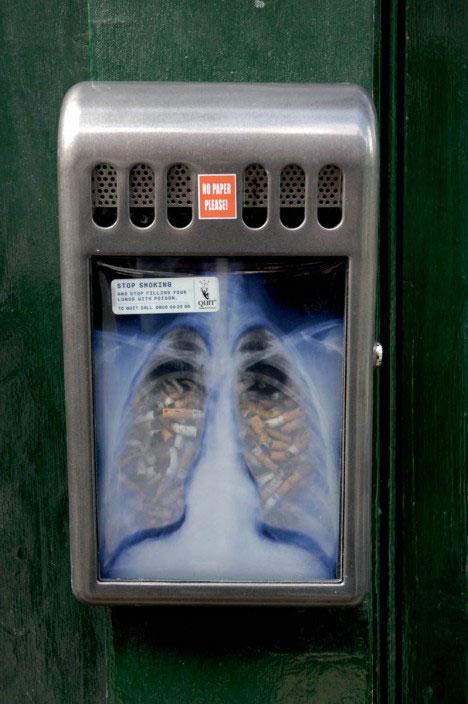 social guerrilla marketing quit smoking xray