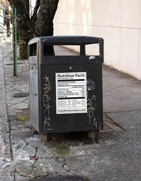 social guerrilla marketing trash bin