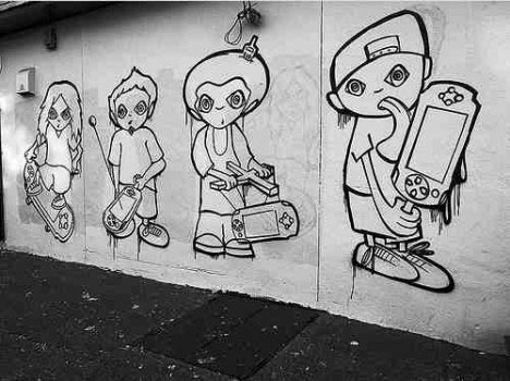 sony psp street art guerrilla marketing