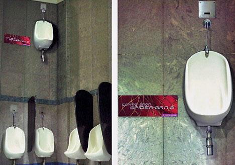 spider man guerrilla urinal