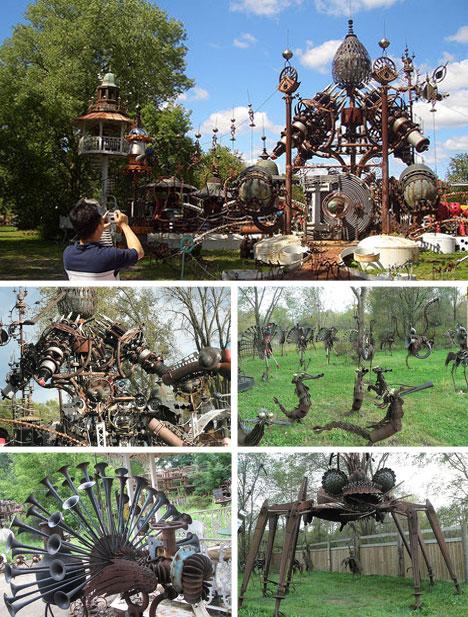 Trash Sculpture Garden