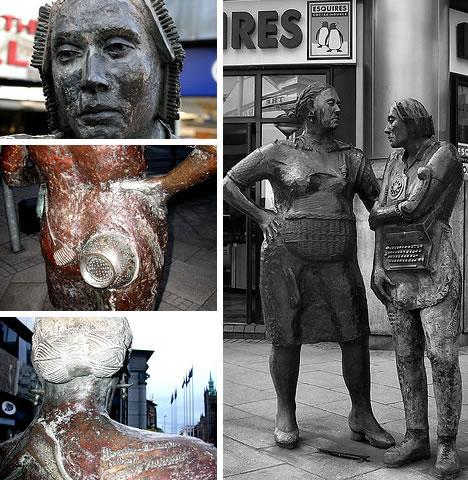 Unknown women worker monument in Belfast