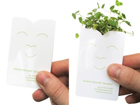 weird guerrilla marketing blooming business card