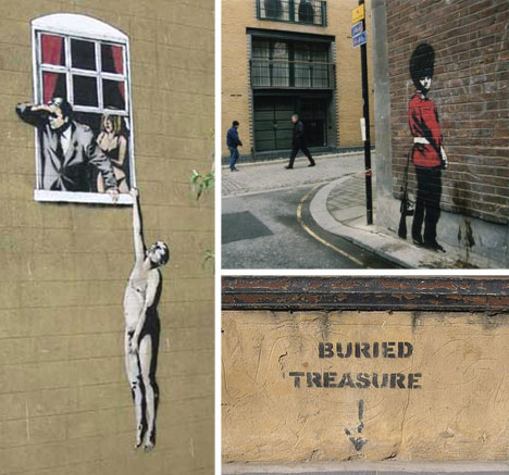 banksy graffiti collage