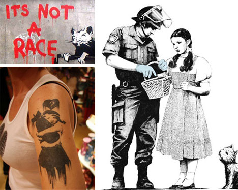 Banksy Prints Stencils Tattoos