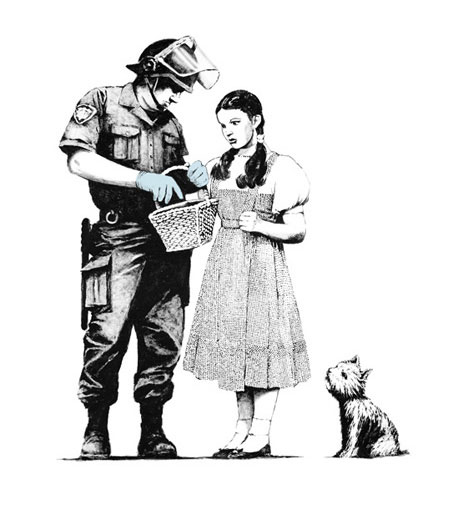 banksy photos prints tattoos dorothy and guard