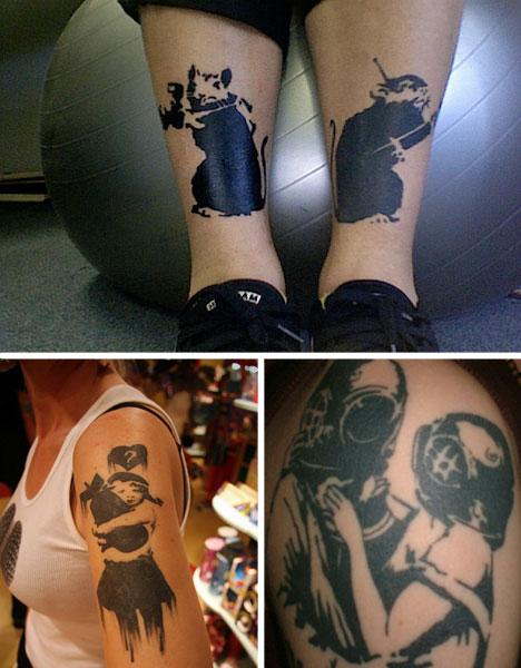 banksy photos prints tattoos rats bomb divers