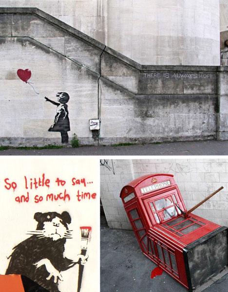 banksy street art urban art guerrilla art
