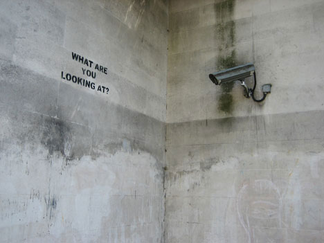 banksy street art what are you looking at