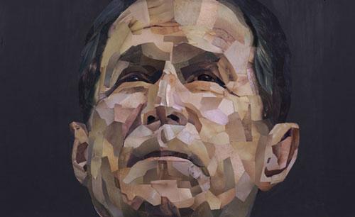 Presidential Portraits Drawings Paintings Of George Bush Urbanist