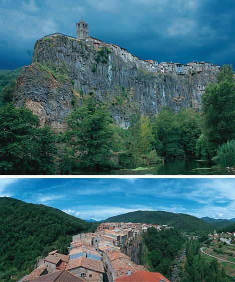 clifftop village castellfollit de la roca