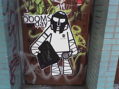 guerrilla marketing graffiti doom