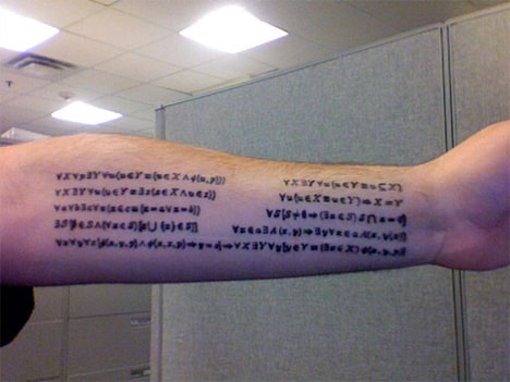 Mark, the proud owner of this math tattoo, wrote to Carl Zimmer's Science