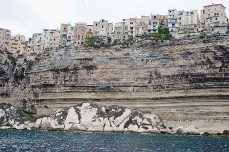 precarious cliff village bonifacio