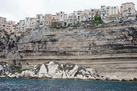 precarious cliff village bonifacio