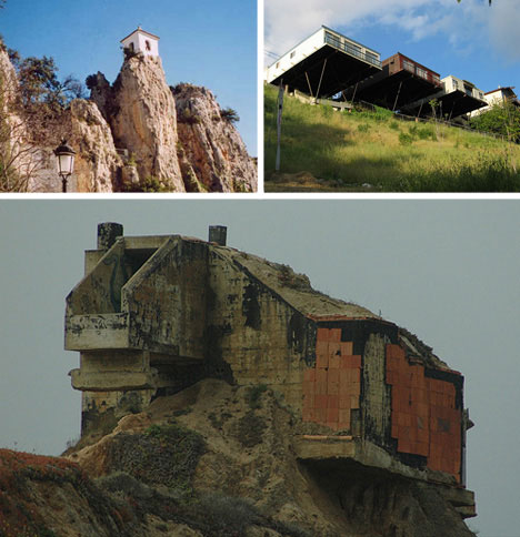 precarious clifftop homes