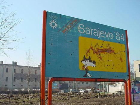 Sarajevo Welcome Sign