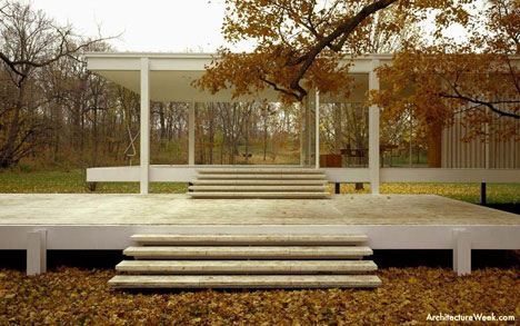 amazing glass house farnsworth house