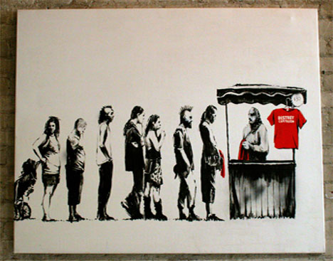 banksy crush competition painting