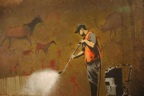 banksy graffiti cave art