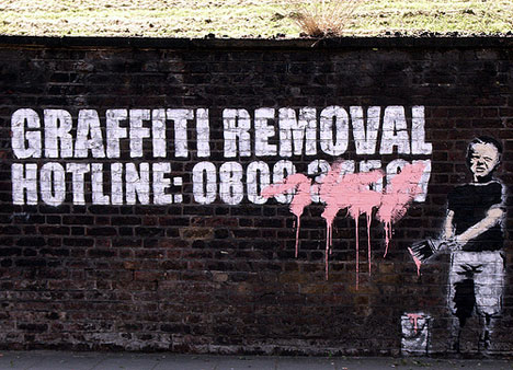 banksy graffiti removal hotline