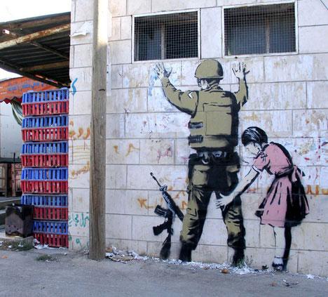 banksy graffiti street art soldier beth