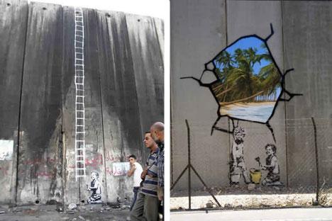 banksy graffiti wall bethlehem