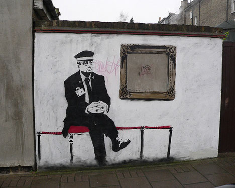 banksy pensioner london