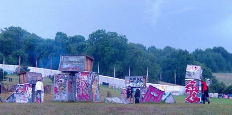 banksy quotes stonehenge toilets glastonbury festival