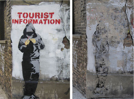 banksy tourist information before and after