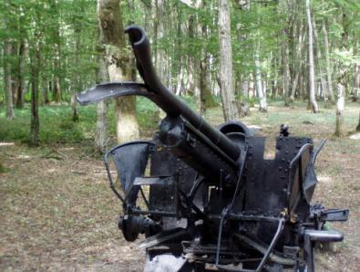An Artiller Piece Left From The Battle