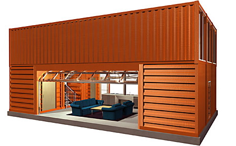 How to buy design or build diy cargo container homes for Two storage house designs