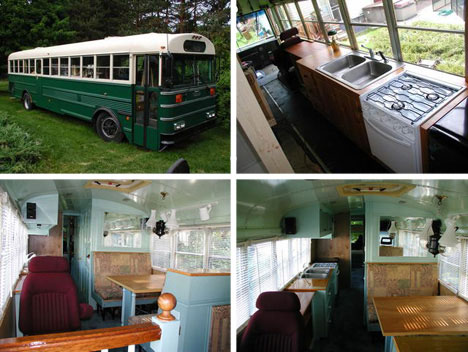 cheap houses converted bus