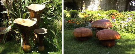cool garden furniture toadstool furniture