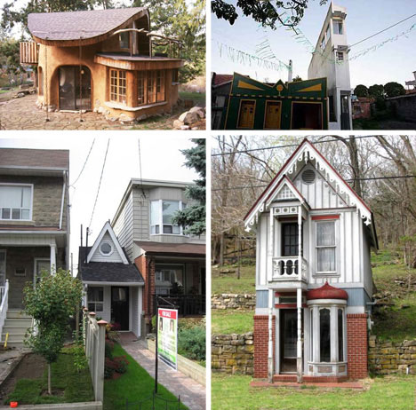 Super Crowded House 5 Silly Small Homes Cheap Tiny Houses Urbanist Largest Home Design Picture Inspirations Pitcheantrous