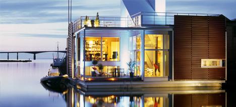 Marine Extreme  Houseboats  House Boat Designs Urbanist - Modern custom houseboat graphics