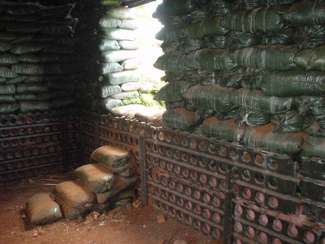 The Inside of A Bunker At Khe Sahn