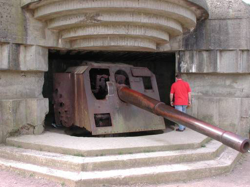 A German Battery At Pointe Du Hoc