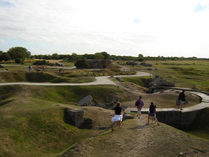 Trenches and Bunkers At Pointe Du Hoc