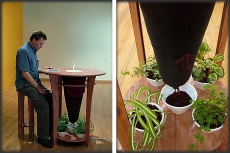 unusual dining room furniture composting digestive table