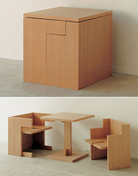 unusual dining room furniture cube table